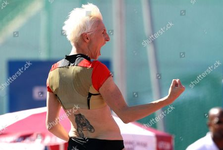 Ariane Friedrich Ariane Friedrich of Germany reacts after winning the high jump event during the Decanation 2010 competition in Annecy, French Alps, . The Decanation is a team event featuring athletes competing in the ten events of the decathlon
