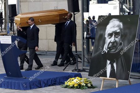 Claude Chabrol Pallbearers carry the coffin of late French director Claude Chabrol during a public homage at the Cinematheque Francaise in Paris . Chabrol, one of the founders of the New Wave movement whose films probed the latent malice beneath the placid surface of bourgeois life died on Sunday September 12, 2010 at the age of 80