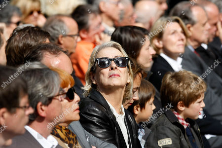 Aurore Pajot Aurore Pajot, center looking up, former wife of late French director Claude Chabrol, attends a public homage at the Cinematheque Francaise in Paris . Chabrol, one of the founders of the New Wave movement whose films probed the latent malice beneath the placid surface of bourgeois life died Sunday Sept. 12, 2010 at the age of 80