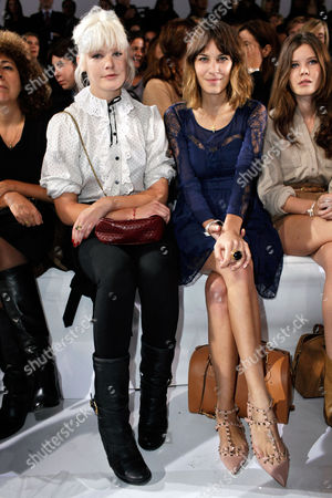 Micky Green, Alexa Chung Australian singer Micky Green, left, and British model Alexa Chung, right, attend to Chloe's ready-to-wear spring-summer 2011 fashion collection, in Paris