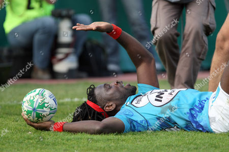 Paul Sackey Toulon's Paul Sackey reacts after scoring a try during their Heineken European Cup rugby union match against Ospreys, in Toulon, southern France
