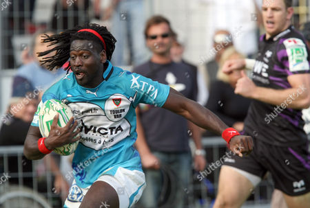 Paul Sackey Toulon's Paul Sackey runs to score a try during their Heineken European Cup rugby union match against Ospreys, in Toulon, southern France