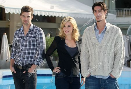 Emily Rose, Eric Balfour, Lucas Bryant Canadian born actor Lucas Bryant, left, US actress Emily Rose and US actor Eric Balfour, pose for photographers during the 26th MIPCOM (International Film and Programme Market for TV, Video,Cable and Satellite) in Cannes, southeastern France, promote their TV series 'Haven