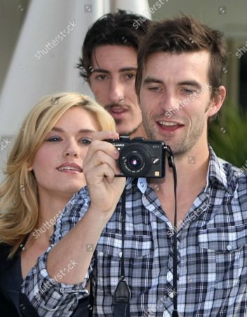 Emily Rose, Eric Balfour, Lucas Bryant US actress Emily Rose, US actor Eric Balfour, center and Canadian born actor Lucas Bryant poses for photographers during the 26th MIPCOM (International Film and Programme Market for Tv, Video,Cable and Satellite) in Cannes, southeastern France, promoting their TV series 'Haven
