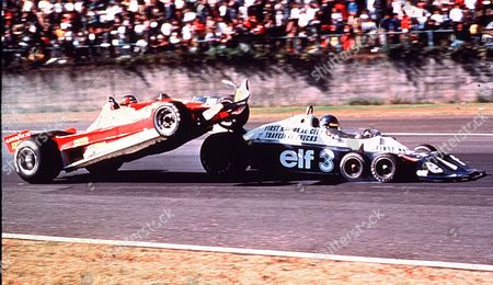 Gilles Villeneuve hits Ronnie Peterson and crashes into the crowd killing two spectators