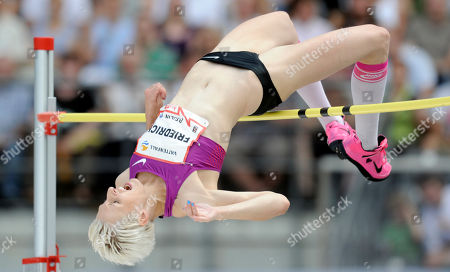 Ariane Friedrich Ariane Friedrich of Germany competes in the Womens's High Jump of the ISTAF Athletics Meeting at the Olympic stadium in Berlin, Germany
