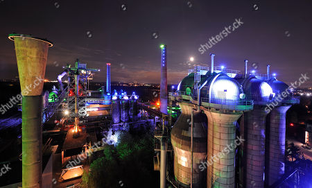 Editorial picture of Germany Illuminated Industry, Duisburg, Germany