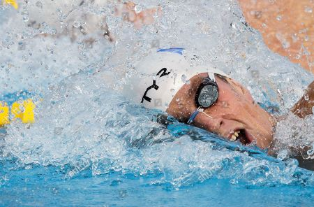 France's gold medal winner Sebastien Rouault swims in the Men's 800m freestyle final at the European Swimming Championships in Budapest, Hungary