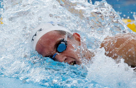 France's Sebastien Rouault swims on his way to winning the gold medal in the Men's 1500m freestyle final at the Swimming European Championships in Budapest, Hungary