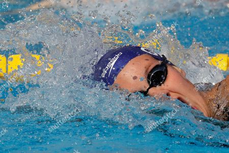 Britain's Joanne Jackson swims a Women's 200m freestyle heat at the Swimming European Championships in Budapest, Hungary