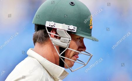 Marcus North Australia's Marcus North reacts as he leaves the ground after losing his wicket during the fourth day of their second cricket test match against India, in Bangalore, India