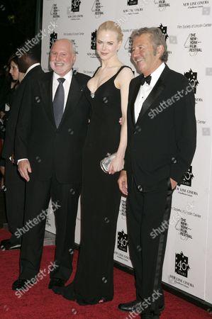 Nicole Kidman (C) with Michael Lynne (L)  and Bob Shaye (R)