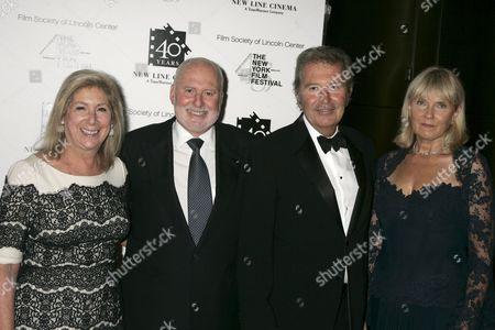 Michael Lynne (2nd L) and Bob Shaye  (2nd R) and wives Ninah and Eva