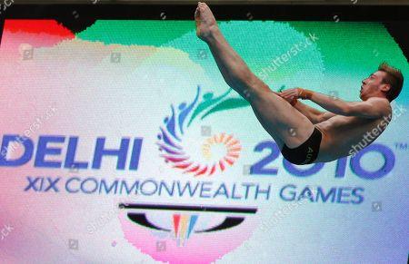 Matthew Mitcham Australia's Matthew Mitcham competes in the men's 10m platform diving event during the Commonwealth Games at the Dr. S.P. Mukherjee Aquatics Center in New Delhi, India