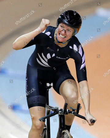 Alison Shanks New Zealand's Alison Shanks reacts after winning gold in the women's individual pursuit during the Commonwealth Games at the Indira Gandhi Sports Complex in New Delhi, India