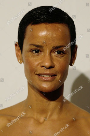 French supermodel Nadege du Bospertus attends the 'Amfar', foundation for Aids research, second annual benefit held in conjunction with Milan fashion week, in Milan, Italy