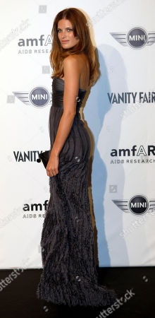 Stock Image of Alessia Piovan Italian actress Alessia Piovan attends the 'Amfar', foundation for Aids research, second annual benefit held in conjunction with Milan fashion week, in Milan, Italy