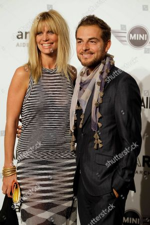 Filippa Lagerback Swedish model Filippa Lagerback and her hausband Daniele Bossari attend the 'Amfar', foundation for Aids research, second annual benefit held in conjunction with Milan fashion week, in Milan, Italy