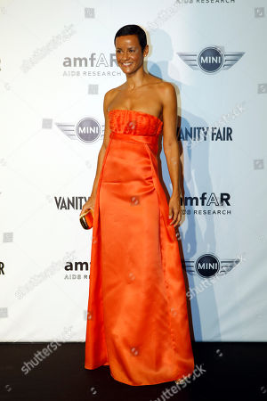 Nadege du Bospertus French supermodel Nadege du Bospertus attends the 'Amfar', foundation for Aids research, second annual benefit held in conjunction with Milan fashion week, in Milan, Italy