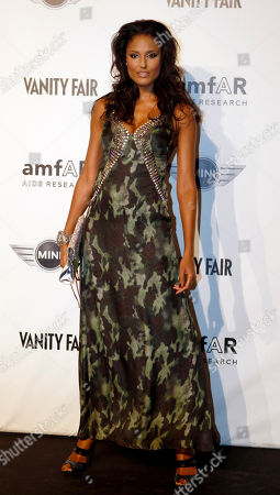 Stock Photo of Jeanene Fox Supermodel Jeanene Fox from Bahamas attends the 'Amfar', foundation for Aids research, second annual benefit held in conjunction with Milan fashion week, in Milan, Italy