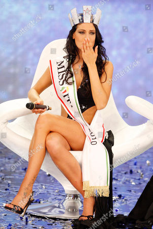 Francesca Testasecca Francesca Testasecca reacts after she was voted Miss Italia (Miss Italy) 2010, in Salsomaggiore, Italy