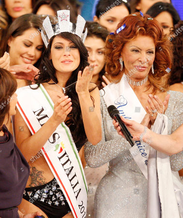 Francesca Testasecca Sofia Loren Francesca Testasecca, left, reacts with Italian actress and beauty pageant jury president Sofia Loren after she was voted Miss Italia (Miss Italy) 2010, in Salsomaggiore, Italy