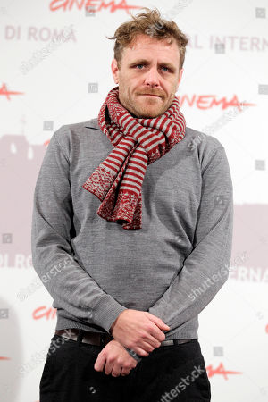 """British director Paul Fraser poses for a photo call to present the movie """"My brothers"""" during the Rome Film Festival at Rome's Auditorium"""