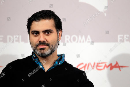 """Director Hossein Keshavarz poses for a photo call to present the movie """"Dog Sweat """" during the Rome Film Festival at Rome's Auditorium"""