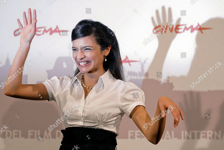 Stock Image of Rabeb Srairi Actress Rabeb Srairi poses during the photo call for the movie Io Sono Con Te ( I Am with You ), where she has a role, during the Rome Film Festival at Rome's Auditorium