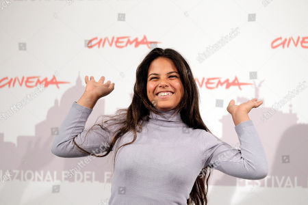 Stock Picture of Nadia Khlifi Actress Nadia Khlifi poses during the photo call for the movie Io Sono Con Te ( I Am with You ), where she has a role, during the Rome Film Festival at Rome's Auditorium