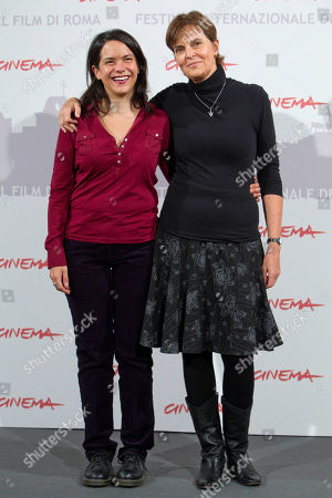 """Director Maria Novaro, right, and actress Ursula Pruneda pose during the photo call of the movie """"Las Buenas Hierbas"""" during the Rome Film Festival at Rome's Auditorium"""