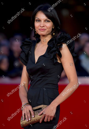 """Stock Image of Seema Rahmani Actress Seema Rahmani arrives on the red carpet to attend the screening of her movie """"Gangor"""" during the Rome Film Festival at Rome's Auditorium"""