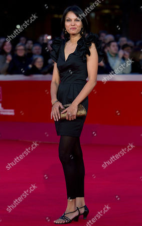 """Stock Picture of Seema Rahmani Actress Seema Rahmani arrives on the red carpet to attend the screening of her movie """"Gangor"""" during the Rome Film Festival at Rome's Auditorium"""