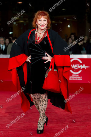 """Actress Zazie de Paris arrives on the red carpet to present the movie """"Kill Me Please"""" during the Rome Film Festival at Rome's Auditorium"""