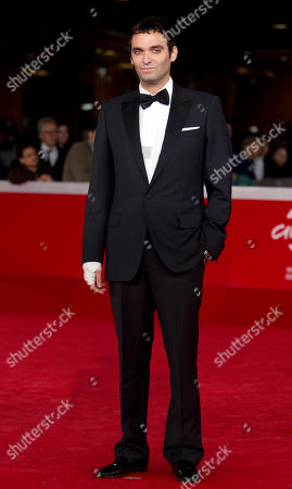 """Actor Virgile Bramly arrives on the red carpet to present the movie """"Kill Me Please"""" during the Rome Film Festival at Rome's Auditorium"""