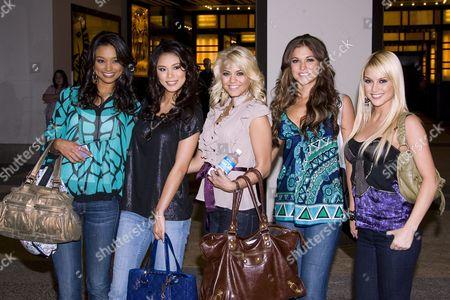 The Cast of 'Pageant Place' (l to r):  Rachel Smith, Riyo Mori, Katie Blair, Hilary Cruz, Tara Connor