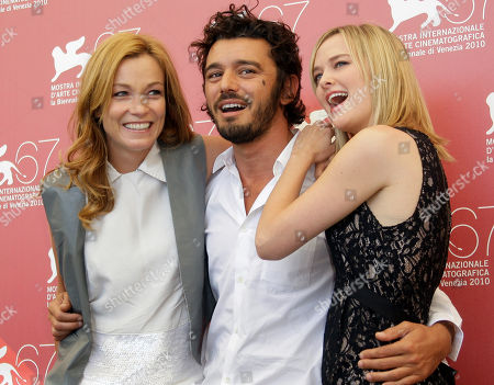 Jess Weixler, Stefania Rocca, MIchele Venitucci Actors, from left, Stefania Rocca, Michele Venitucci, and Jess Weixler pose during the photo call for the film A Woman at the 67th edition of the Venice Film Festival in Venice, Italy