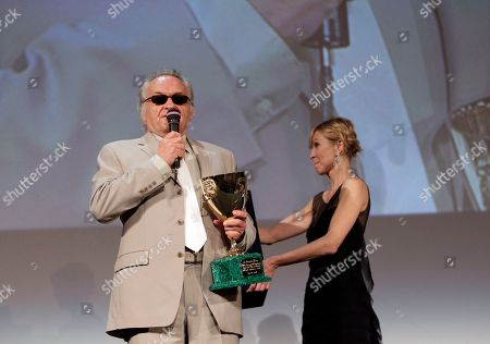 Jerzy Skolimowski Director Jerzy Skolimowski receives the award for Best Actor on behalf of Vincent Gallo for his role in the film Essential Killing at the Award Ceremony at the 67th edition of the Venice Film Festival in Venice, Italy