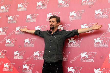 Ascanio Celestini Director Ascanio Celestini reacts during the photo call for the movie La Pecora Nera at the 67th edition of the Venice Film Festival in Venice, Italy