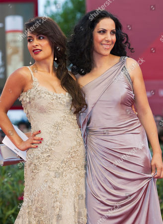 Stock Picture of Yasmine Elmasri, Ruba Blal Actresses Yasmine Elmasri, left, and Ruba Blal arrive for the screening of the movie Miral at the 67th edition of the Venice Film Festival in Venice, Italy