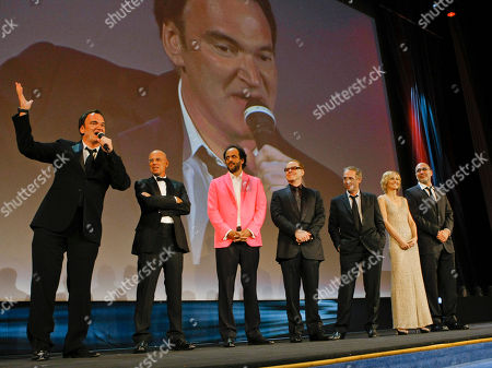 Quentin Tarantino, Gabriele Salvatores, Luca Guadagnino, Danny Elfman, Arnaud Desplechin, Ingeborga Dapkunaite, Guillermo Arriaga Jury President Quentin Tarantino, left, and Jury members, from left, Gabriele Salvatores, Luca Guadagnino, Danny Elfman, Arnaud Desplechin, Ingeborga Dapkunaite, and Guillermo Arriaga attend the opening ceremony of the 67th edition of the Venice Film Festival in Venice, Italy