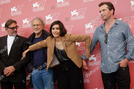 Fabio Testi, Monte Hellman, Shannyn Sossamon, Tygh Runyan Actor Fabio Testi, director Monte Hellman, actors Shannyn Sossamon and Tygh Runyan pose at the photo call for the film Road To Nowhere at the 67th edition of the Venice Film Festival in Venice, Italy