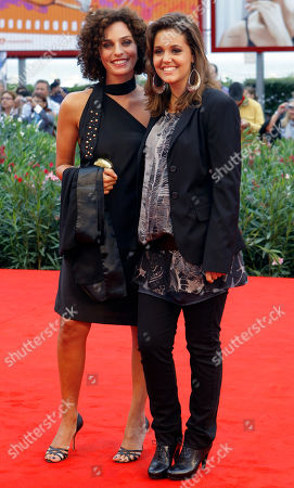 Stock Photo of Valentina Bardi, Elena Bellocchio Actresses Valentina Bardi, left, and Elena Bellocchio arrive for the screening of the film Sorelle Mai at the 67th edition of the Venice Film Festival in Venice, Italy