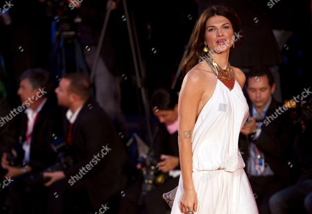 Actresses Monica Barladeanu arrives for the screening of the film Vallanzasca - Gli angeli del male (Vallanzasca - The Angels of Evil) at the 67th edition of the Venice Film Festival in Venice, Italy