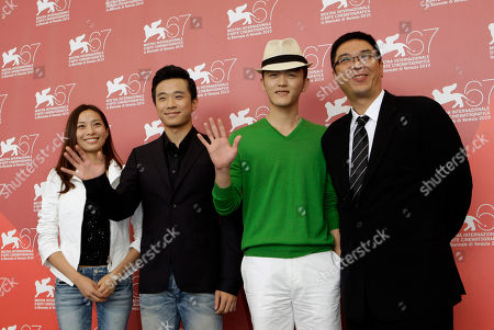 Jiang Yi, Wang Nan, Stanley Kwan, Gao Ting Ting Actors Gao Ting Ting, Jiang Yi, Wang Nan and director Stanley Kwan pose at the photo call for the film Yong Xin Tiao (Showtime) at the 67th edition of the Venice Film Festival in Venice, Italy