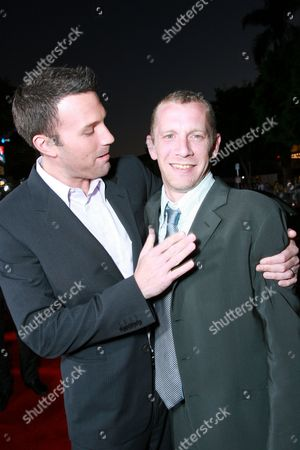 Stock Picture of Writer/Director Ben Affleck and Screen Writer Aaron Stockard