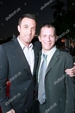Stock Photo of Writer/Director Ben Affleck and Screen Writer Aaron Stockard