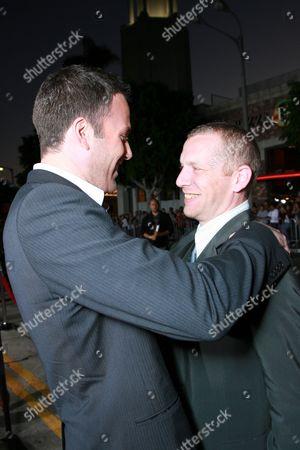 Stock Image of Writer/Director Ben Affleck and Screen Writer Aaron Stockard