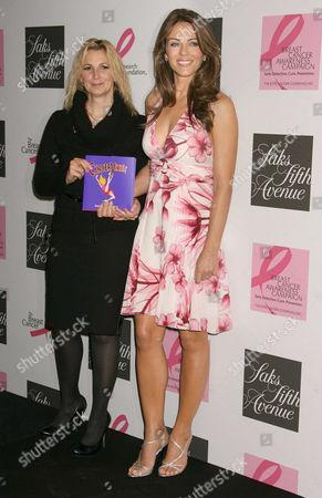 Marisa Acocella Marchetto and Elizabeth Hurley