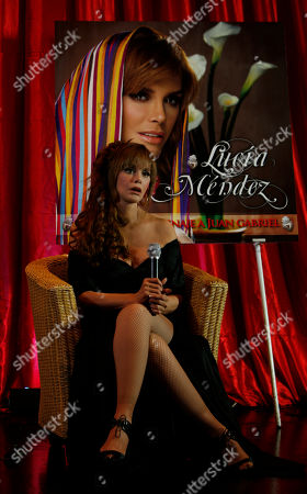"""Lucia Mendez Actress and singer Lucia Mendez, from Mexico, poses for photos during the presentation of her new album """"Canta un Homenaje a Juan Gabriel"""" in Mexico City"""